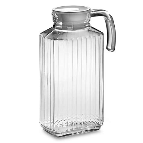 glass pitcher with lid quadro 57 25 ounce glass pitcher with lid bed bath beyond