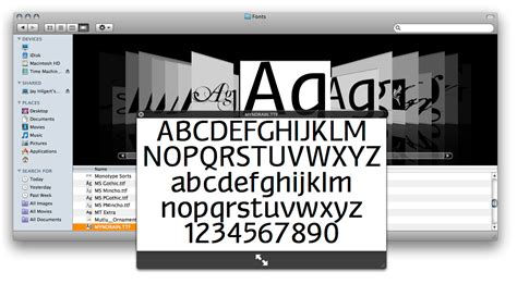 typography finder workflow preview fonts in finder leopard only bittbox