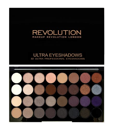 Original Brown Ultra Eyeshadow Palette Preloved revolution ultra 32 shade eyeshadow palette affirmation revolutionbeauty