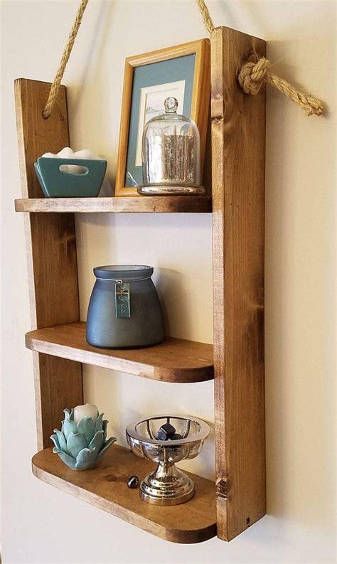 hanging bathroom shelf rustic shelf ladder shelf
