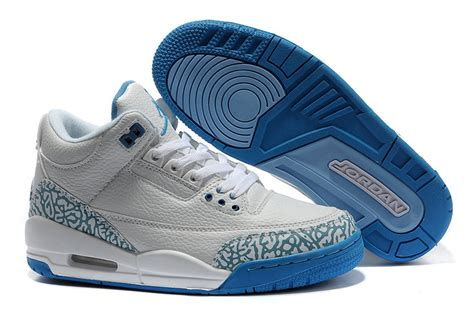 white pattern nikes nike air jordan iii women shoes in white and blue with