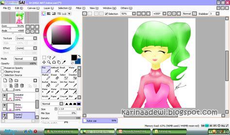 paint tool sai dll miyazaki karin s tutorial digital menggambar