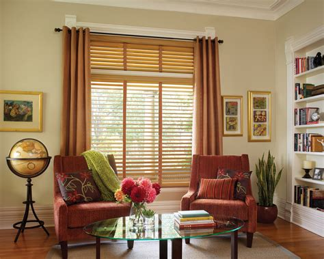 living room blinds and curtains hunter douglas wood blinds grauerspaint com the best