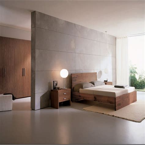 minimalist bedroom neutral palette brown white wood