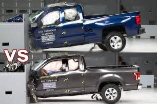 truck crash 2017 ford f 150 vs 2017 chevy silverado 1500
