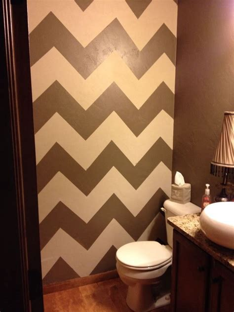 powder room accent wall ideas powder room chevron accent wall my pins pinterest
