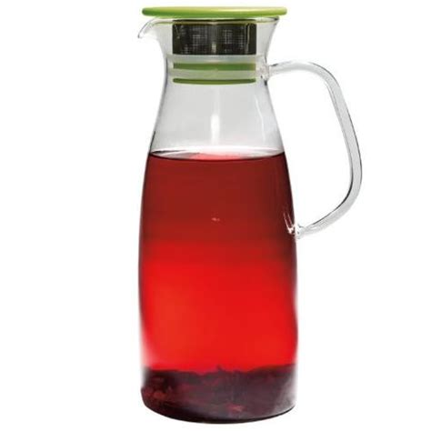 Green Leaf Teko Water Jug 4 L mist large glass iced tea jug stash tea