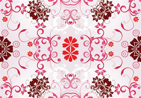 Floral Seamless pink seamless floral pattern background free