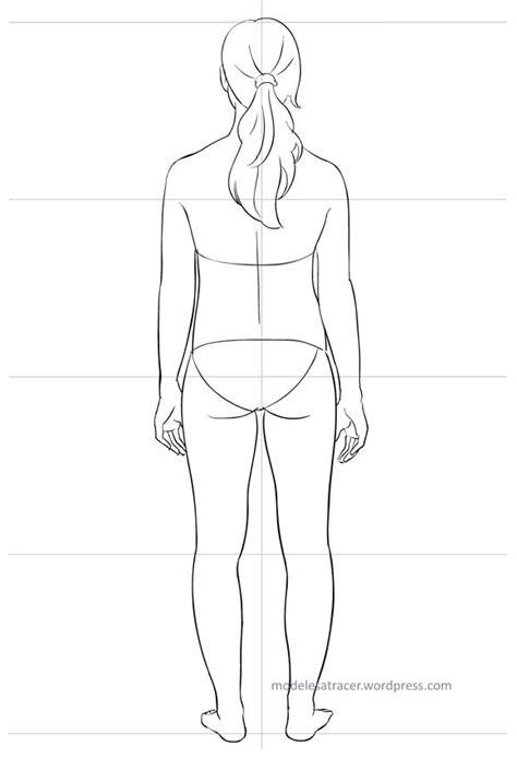 Silhouette à habiller vue de dos – Modèle Mila | Modèles