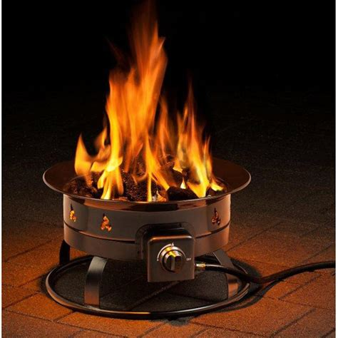 outdoor propane fire pit heininger portable propane outdoor fire pit 233453