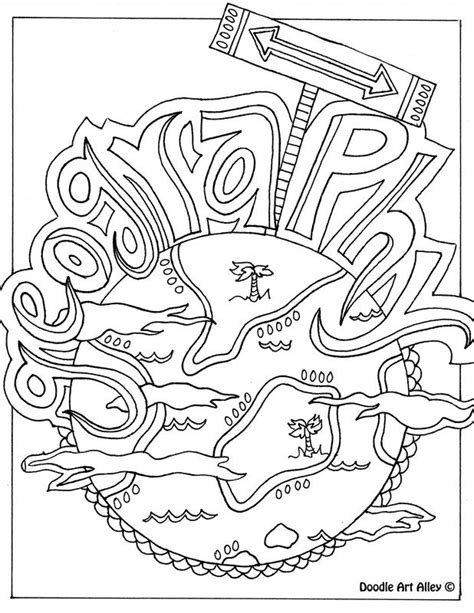 5 themes of geography yahoo geography themed coloring page could be used as a binder