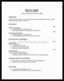 Basic Resume Form by Simple Resume For Simple Resume Jennywashere