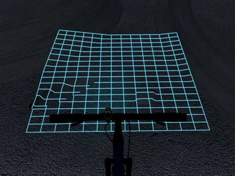 Lighting Grid by Lumigrids Leds Map Bicycle Terrain Pilot Your Bike Like A