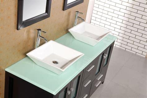 "Adorna 61"" Double Sink Bathroom Vanity Set, Solid wood"