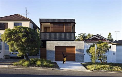 Duplex House Plans For Narrow Lots by Sleek And Functional Sydney House Creative Contemporary