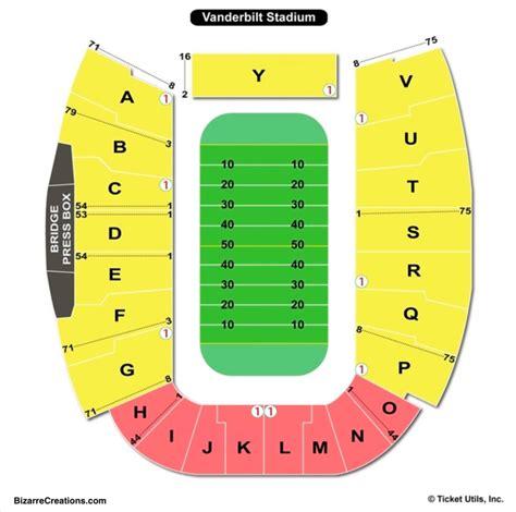 Stadium Seating by Vanderbilt Stadium Seating Chart Seating Charts Tickets