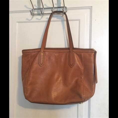 Fossil Tote Bag Leather 54 fossil handbags fossil sydney camel tote bag