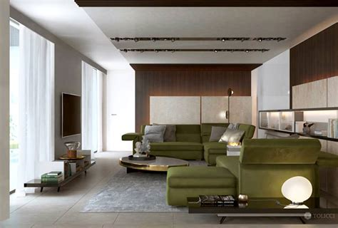 Luxury Living Room And Kitchen Interior Of Luxury Kitchen And Living Room By Tolicci