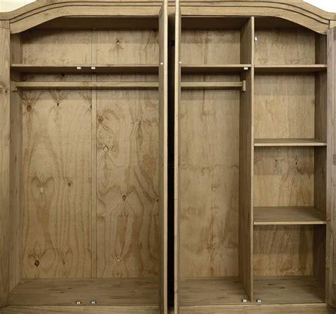 Corona Mexican Pine 4 Door Wardrobe corona mexican 4 door wardrobe distressed waxed pine ebay
