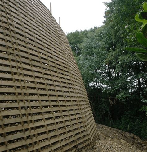 Timber Crib Retaining Walls by Timbalok Timber Crib Retaining Wall Ruthin Precast