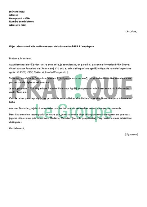 Demande De Cif Employeur Lettre Lettre De Demande De Financement De Formation