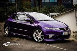 honda civic type r gloss metallic purple wrap