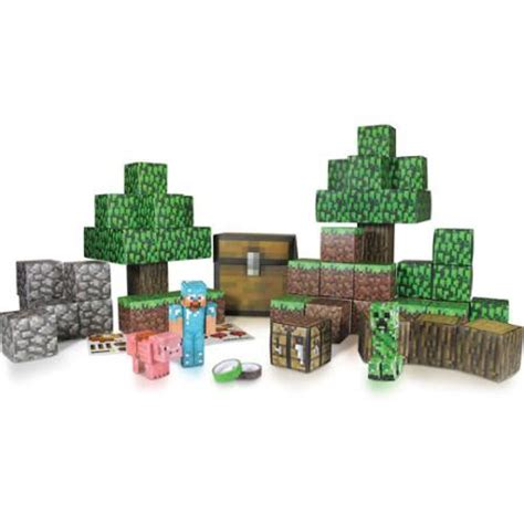 Minecraft Overworld Papercraft - minecraft overworld deluxe papercraft pack walmart