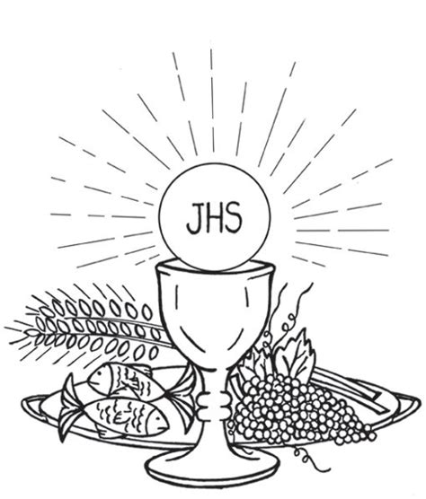 catholic coloring pages eucharist holy eucharist first communion catholic coloring page
