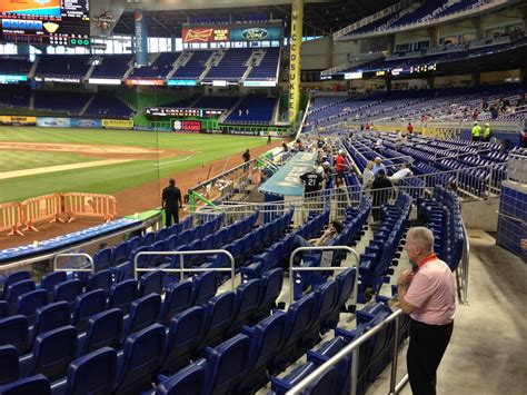 section 8 and 15 miami marlins seating guide marlins park rateyourseats com