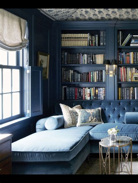 beautiful blue libraryoh  heaven monochromatic