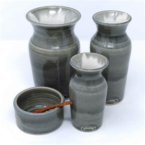10 diameter ceramic pot blue and white spice pot in grey blue and white piper ceramics