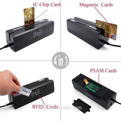 Card Reader 4 In 1 All In One 4 Slot 1 zcs80 4 in 1 usb driver emv smart credit card reader writer ic magnetic stripe rfid nfc psam