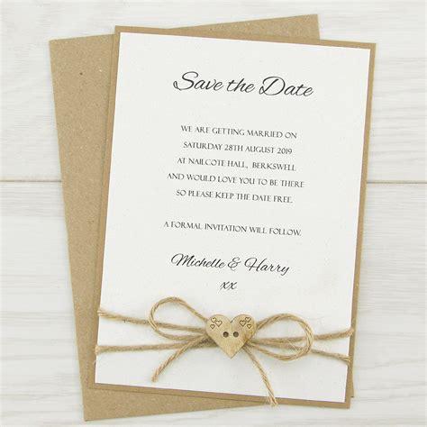 dakota save  date pure invitation wedding invites