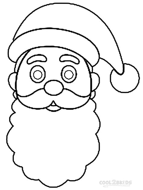 coloring page santa hat free coloring pages of santa beard