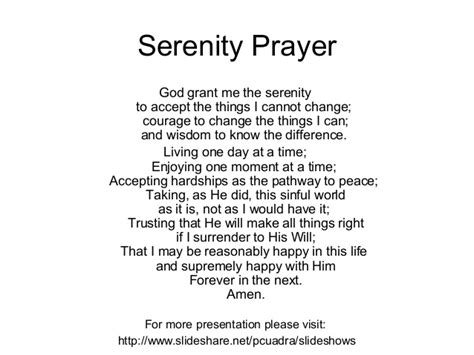 printable version of the serenity prayer top related pictures printer friendly wallpapers