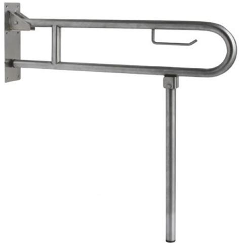 swing up grab bars nofer 15206 s inox swing up grab bar with leg stainless