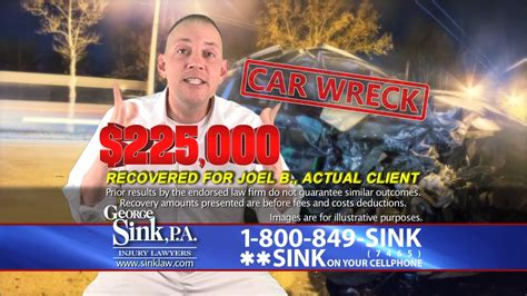 George Sink Commercial by Quot They Got Me The Money I Deserved Quot George Sink P A