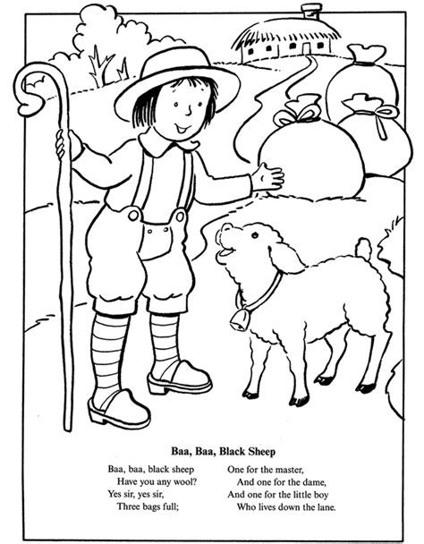 coloring page baa baa black sheep free coloring pages of if baa