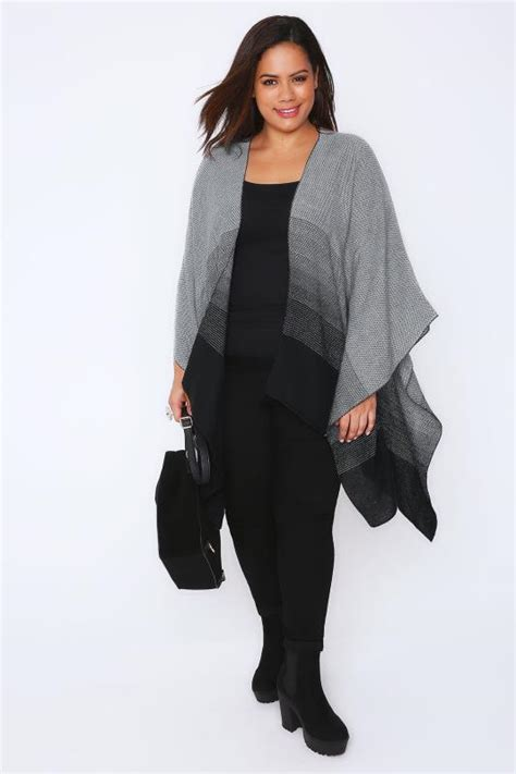 ombre double top grey black grey ombre woven wrap