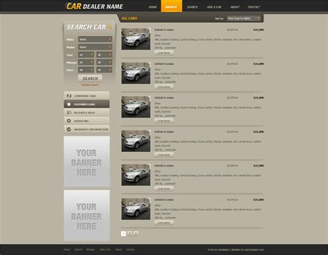 Free Car Website Template Free Car Dealer Web Templates Phpjabbers Free Auto Dealer Website Template