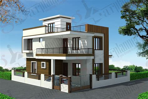 house plan elevation indian duplex floor home