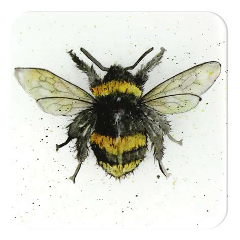 bee coaster bumble bee glass coasters by sarah boddy