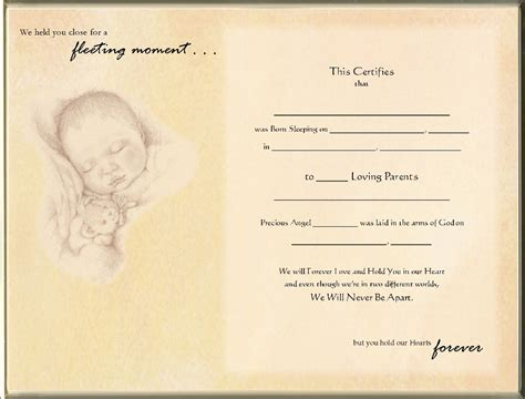 reborn birth certificate template free best photos of blank birth certificate template printable