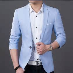 sky blue blazer for mens fashion ql