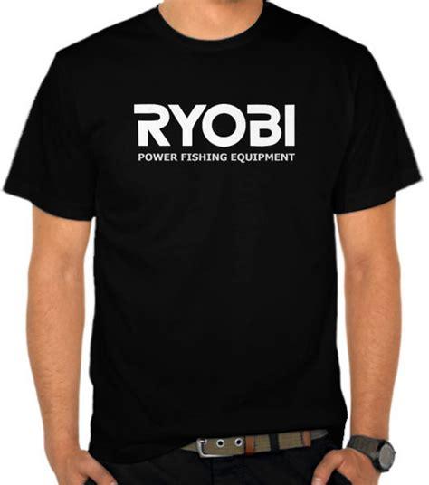 Tshirt Mancing Canal Fishing Putih Jual Kaos Ryobi Logo 3 Mancing Fishing Satubaju