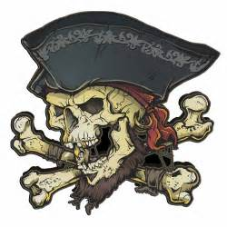 Pirate Ship Wall Stickers pirate skull and crossbones free download clip art