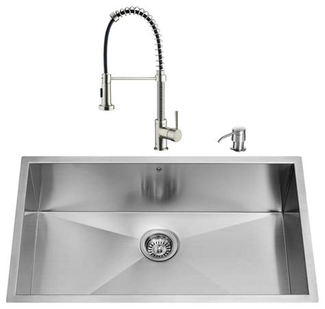 modern undermount kitchen sink vigo industries vigo undermount stainless steel kitchen