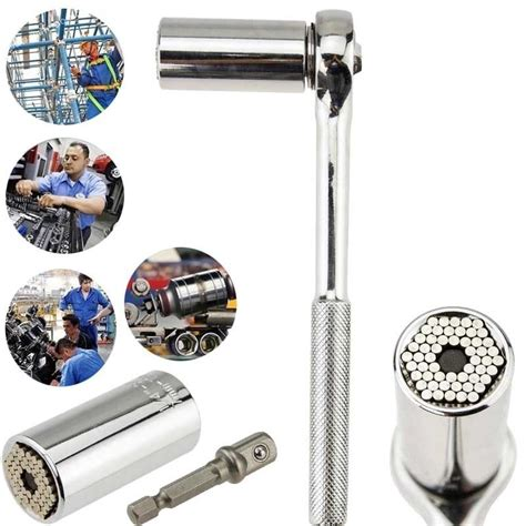 Gator Grip Universal Socket Multi Wrench Grip Kepala G T1310 multi function gator grip socket wrench tool adjustable torque universal sockets gator grip