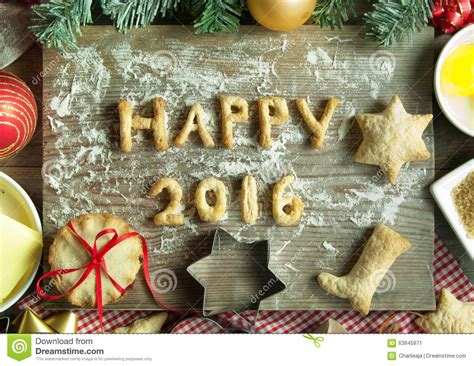 new year cookies class happy new year 2016 stock photo image 63845971