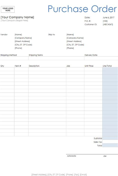 purchase order templates invoiceberry